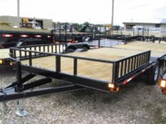 2016 8X14 Double A Quad Trailer (mid-deck)