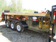 2016 Double A 16ft Low Boy Tri-Axle Gooseneck Dump